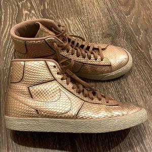 Nike Rose Gold High Top Sneakers 8